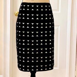 White House Black Market print skirt